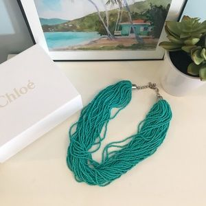 BaubleBar Turquoise beaded necklace